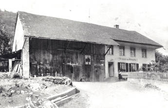 Restaurant Weingarten ca. 1900